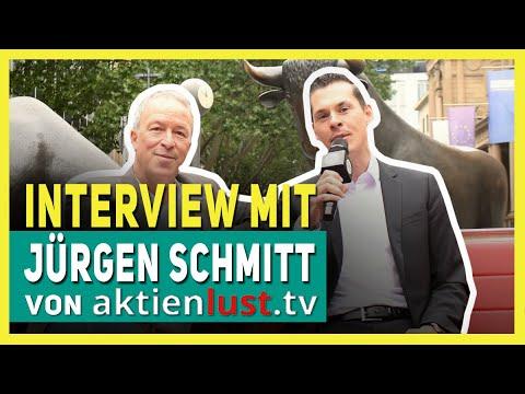 Interview mit Jürgen Schmitt von AktienLUST vor der Börse in Frankfurt