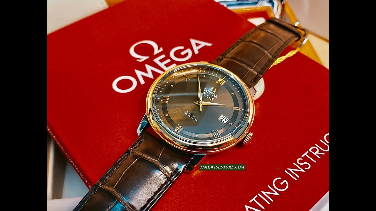 ( Review Đồng hồ) OMEGA De Ville Prestige Co-Axial 424.23.40.20.13.001  TIMEWISE