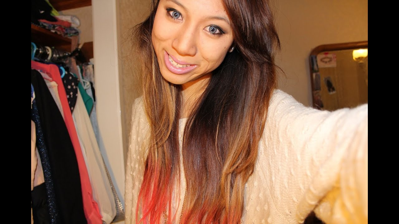 DIY Pink OmbreDip Dye Hair Tutorial Temporary Hair Color
