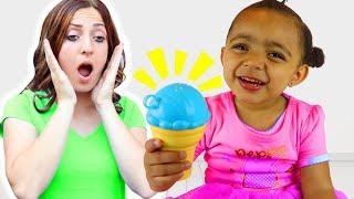 Leah Pretend Play Selling Ice Cream + More Nursery Rhymes & Kids Songs – Leah's Play Time