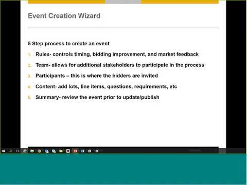 Creating and Managing a Sourcing Event (RFP)