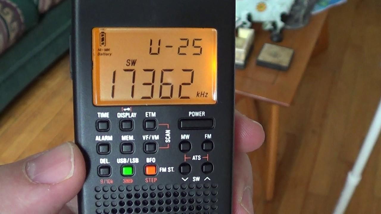 WLO Maratime Weather broadcast 17362 Khz USB on GP5 SSB receiver