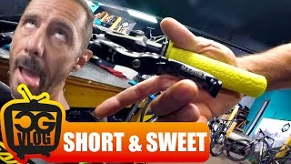 one finger is enough with the new hc3 lever from magura mountain bike disc brakes cg vlog 142