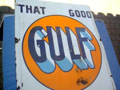 Gulf Gasoline Antique Porcelain sign for sale on eBay