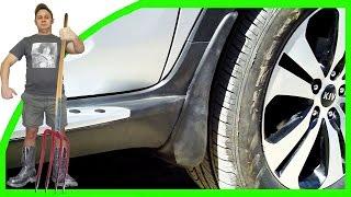 видео Самостоятельная установка брызговиков на авто