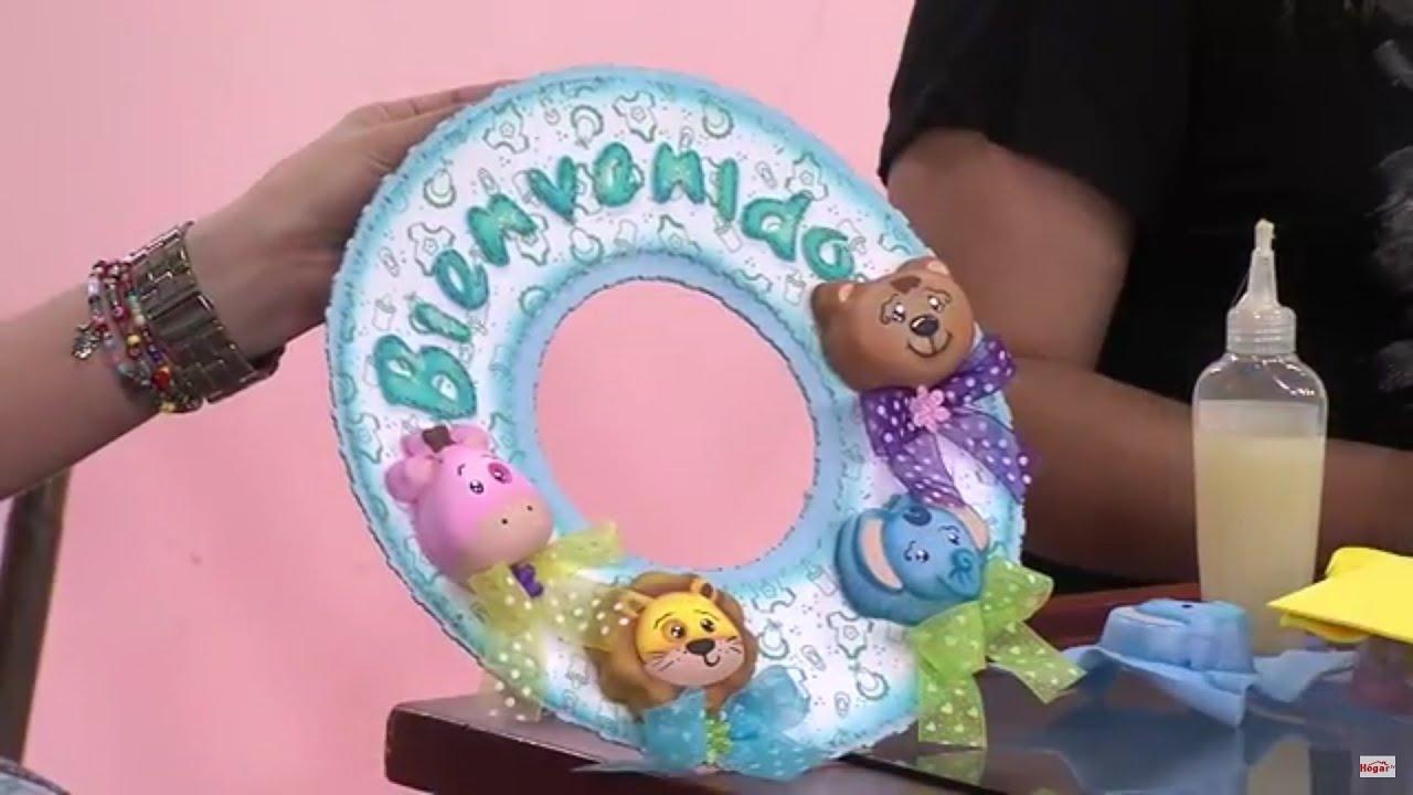 Como hacer un letrero de bienvenida para un cuarto de bebe - Letras infantiles para puertas ...