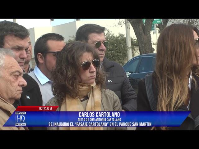 Se inauguró el Pasaje Cartolano
