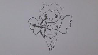 Cómo dibujar a Cupido