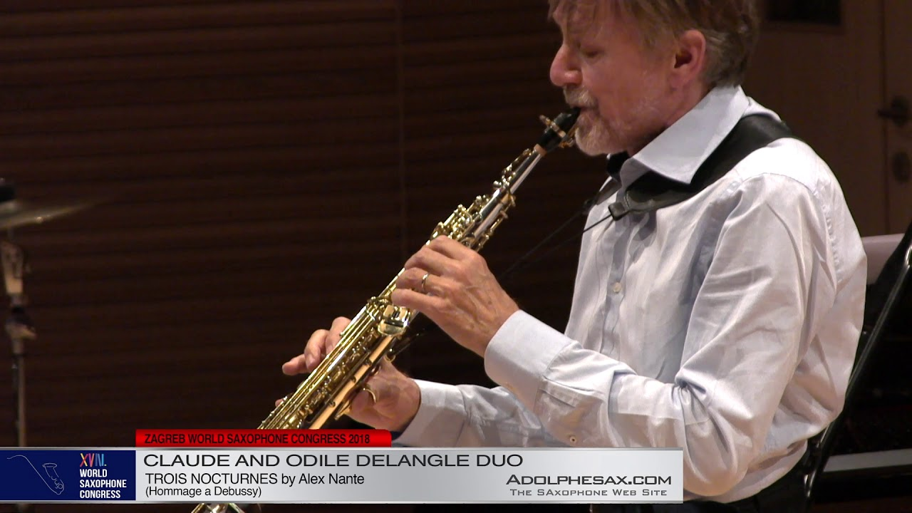 Trois Nocturnes by Alex Nante   Claude and Odile Delangle Duo   XVIII World Sax Congress 2018 #adolp