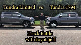 Tundra Battle: 2019 Limited vs 1794 Edition