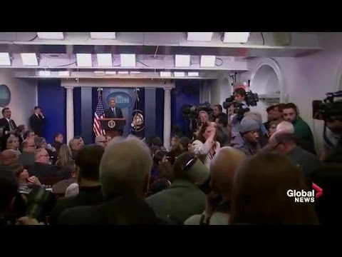 Thumbnail: Journalist passes out during Obama's year-end news conference