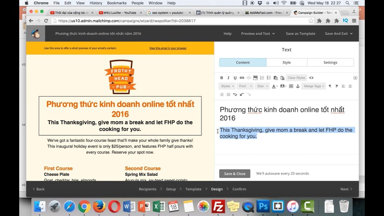Bài Giảng 29: Sử dụng Email Marketing để có nhiều người xem