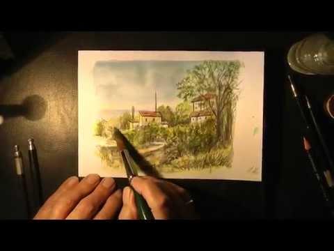 Eine Landschaft malen