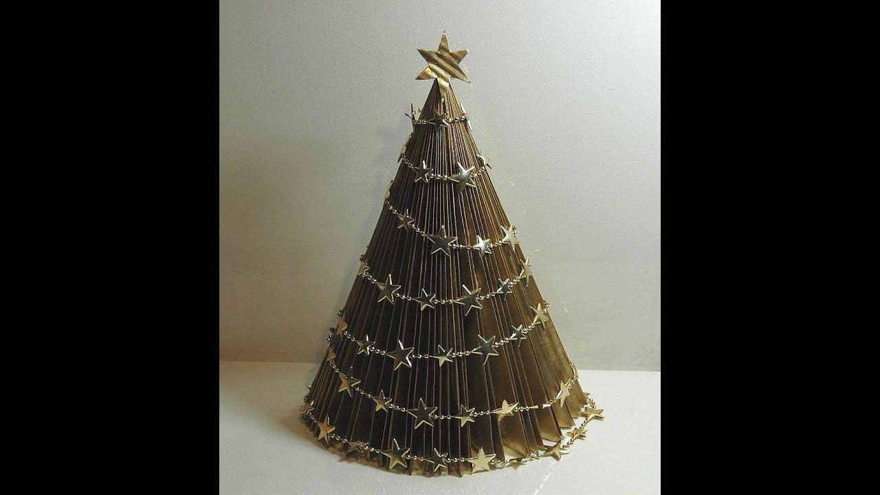 Jak zrobić choinkę z papieru Christmas tree 1 Елка из ...