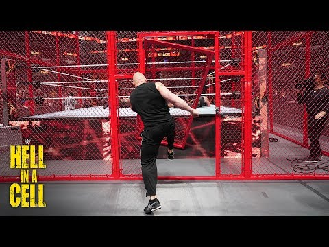 Brock Lesnar kicks the Hell in a Cell door off its hinges: WWE Hell in a Cell 2018