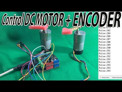Control DC MOTOR + Encoder With DC Motor Shield For Arduino - DFRobot