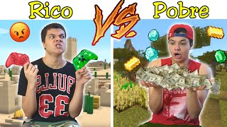 RICO VS POBRE NA ESCOLA #42 - NO MINECRAFT !!