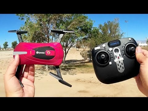 Eachine E52 Folding Selfie Drone Flight Test Review