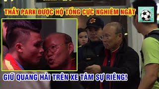 Thầy Park được hộ tống, giữ Quang Hải trên xe thì thầm ngày U23 VN sang Hàn tập huấn