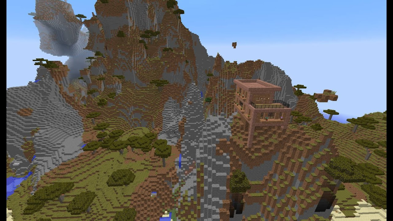 Minecraft Seed 1 8 3 Mountain Build Youtube