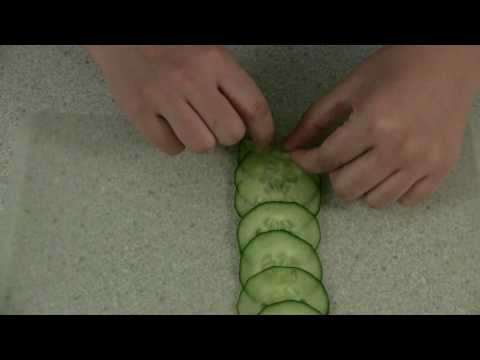 How to Make Cucumber Rose