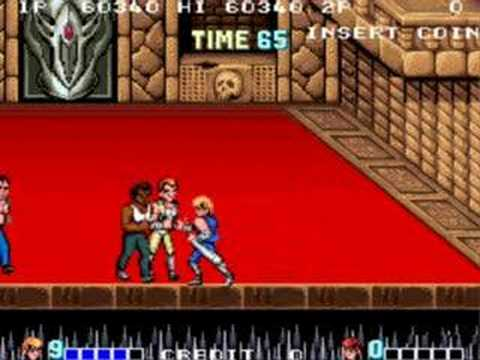 Double Dragon Arcade Gameplay Of The Last Mission And Ending Youtube