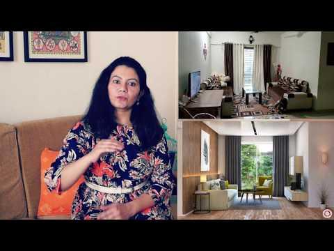 How To Decorate Small Balcony & Living Room| Livspace Design Solutions E 2