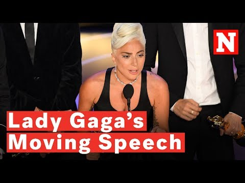 Lady Gaga Gives Tearful Oscars Acceptance Speech: 'It's About Not Giving Up'