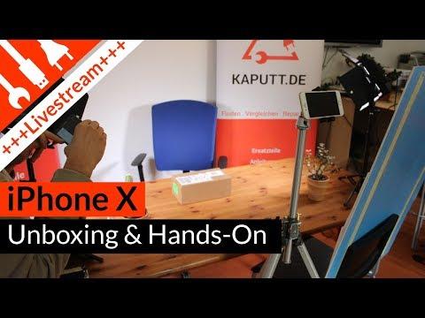 iPhone X Unboxing & HandsOn Test   deutsch