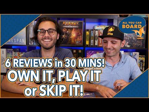 OWN IT, PLAY IT or SKIP IT | 6 Reviews in 30 Minutes | Rocketmen, Isle of Cats, Hallertau (+ MORE!)