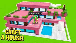 How To Craft A Large Modern House Tutorial!