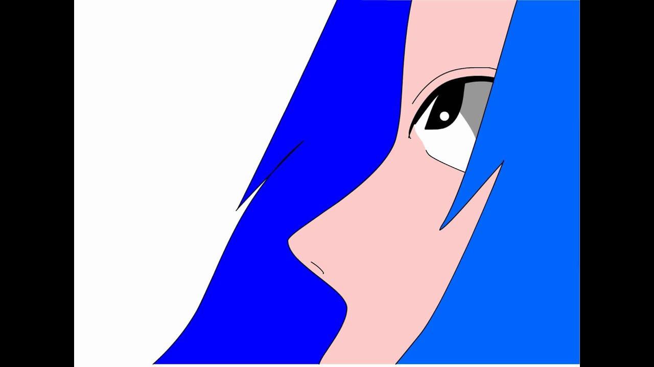 Anime Girl Falling Backwards - Fan Animation - YouTube