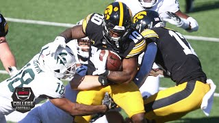 Michigan State Spartans vs. Iowa Hawkeyes | 2020 College Football Highlights