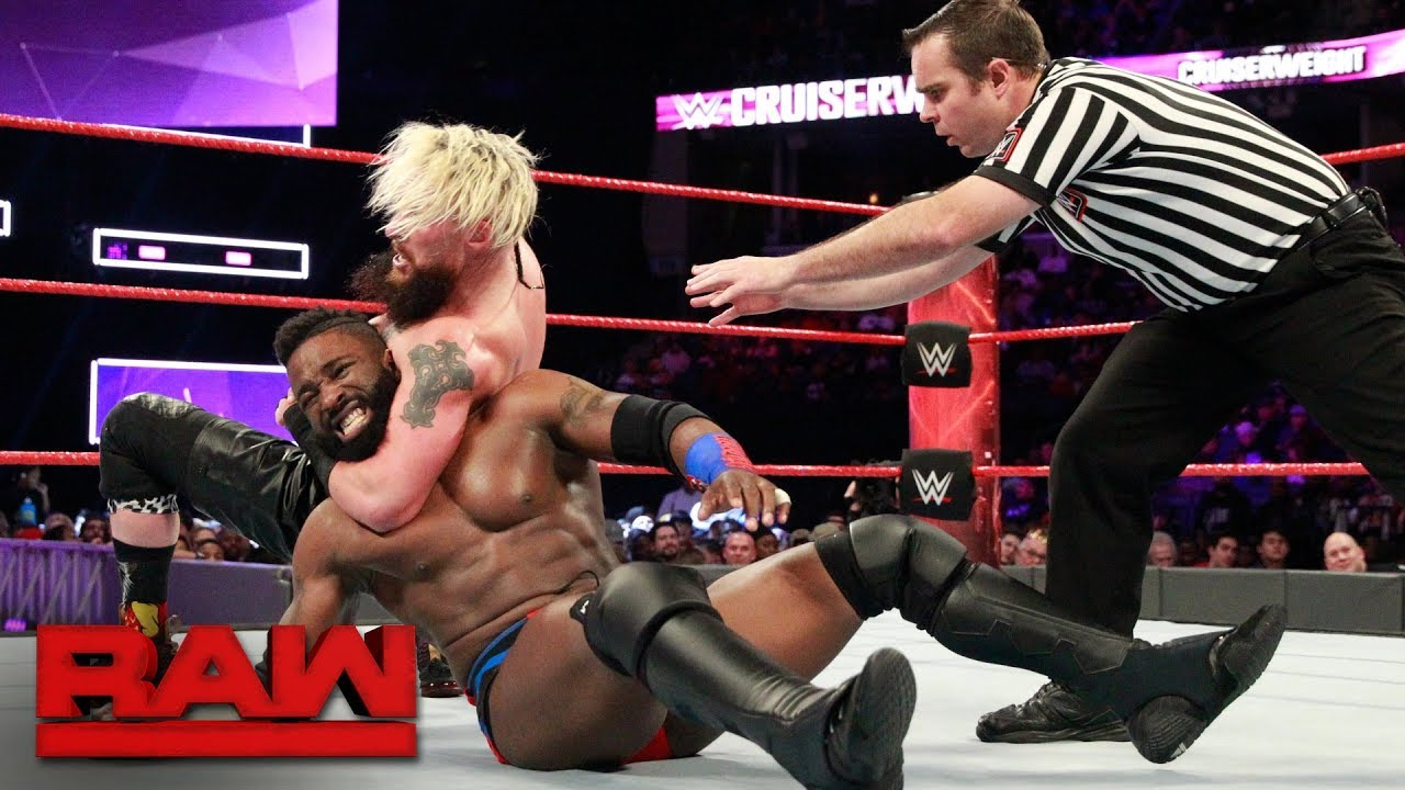 Enzo Amore vs. Cedric Alexander - WWE Cruiserweight Title Match: Raw, Jan. 8, 2018
