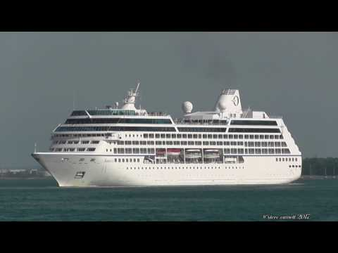 Oceania Cruises 'Nautica' departs QE2 Terminal Southampton 13/6/17