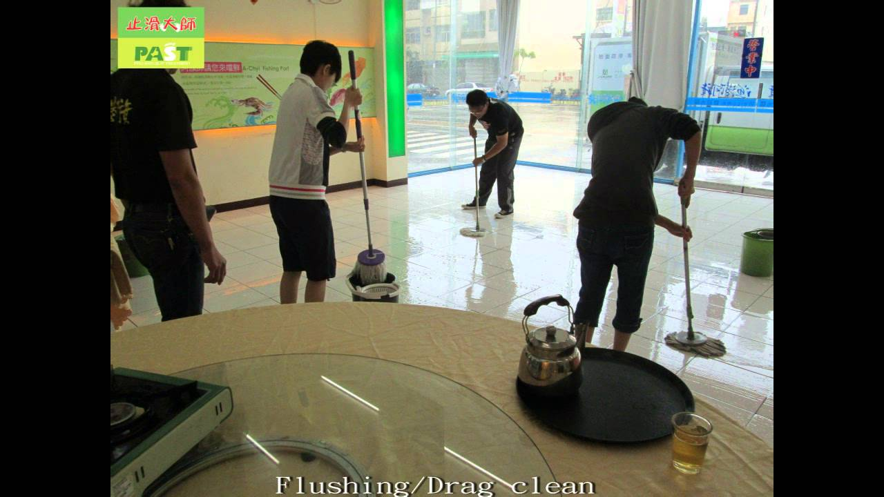 Restaurant Tile Floors Anti Slip Treatment Photos Youtube