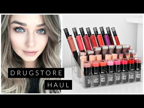 HUGE Drugstore/ Affordable  Makeup Haul | 40 New Lipsticks + Swatches! | Beauty.Life.Michelle