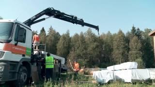 видео Строительство деревянных домов из клееного бруса и крыша дома