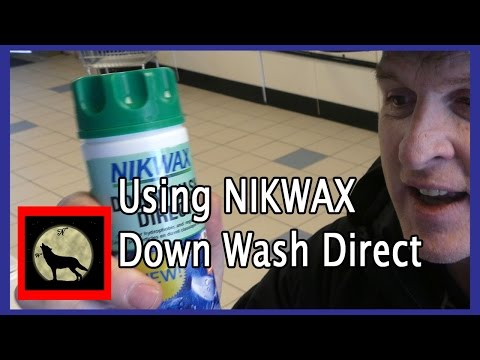 Using NIKWAX Down Wash Direct to clean down backpacking gear