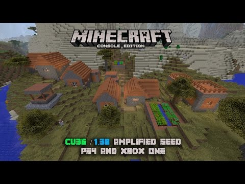 Minecraft Console Edition Amplified Seed: PS4 & Xbox One!