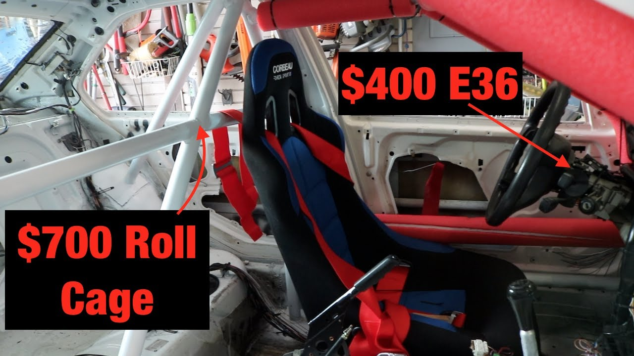 Painting The Roll Cage On My Bmw E36 Racecar Youtube
