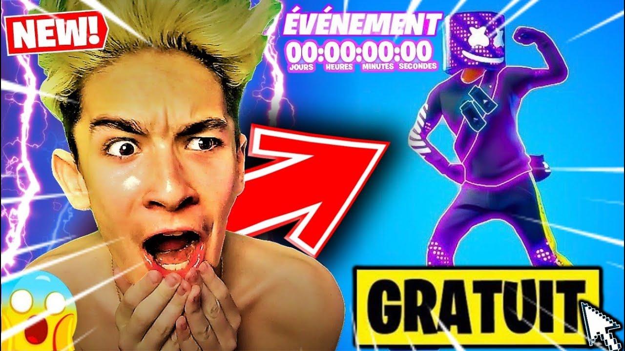 """*ÉVÈNEMENT* RÉCUPÉRER VÔTRE SKIN """"MARSHMELLO NÉON"""" GRATUIT !? [ Live Fortnite FR ] 62k !"""