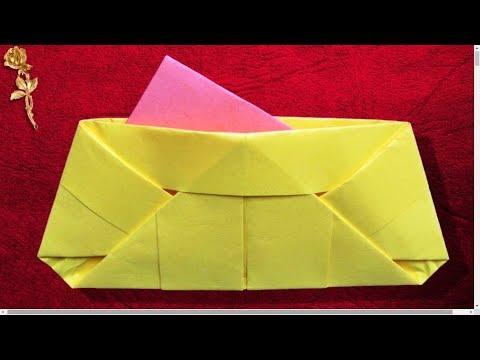 Origami Facile Sac De Soirée Pochette Klatch Japonais