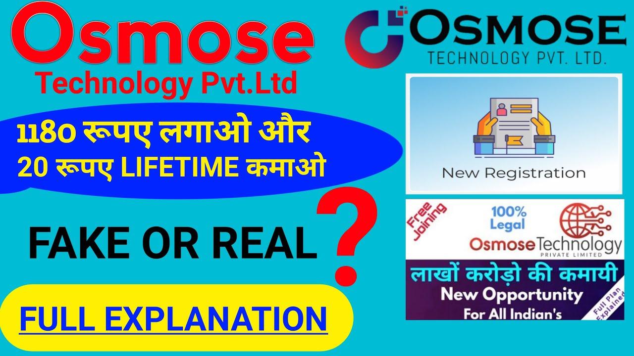 Osmose Technology Osmose Technology Fake Or Real Osmose Osmose Technology Kya Hai Youtube