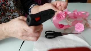 Розы из атласных лент своими руками мастер класс