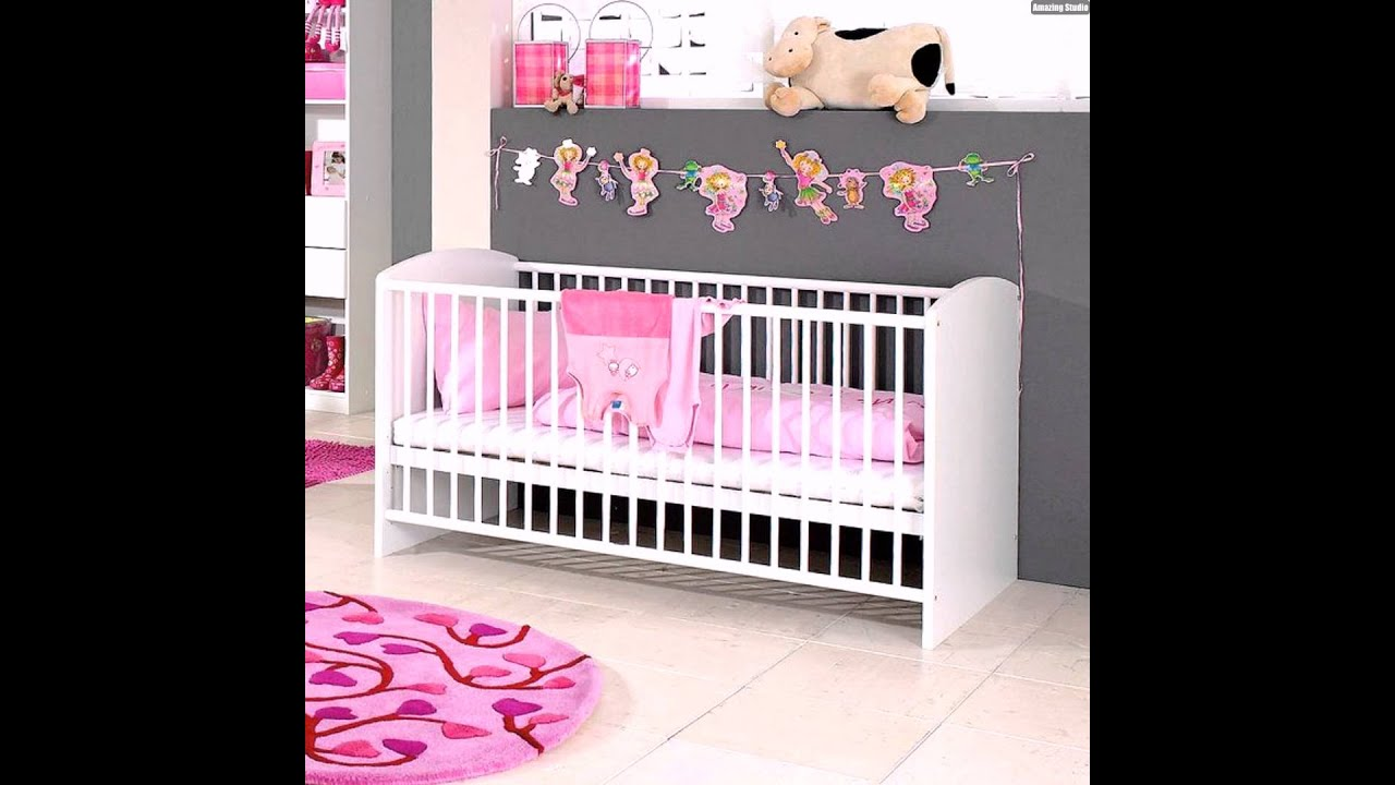 grau rosa wanddeko wohnideen babyzimmer m dchen youtube. Black Bedroom Furniture Sets. Home Design Ideas
