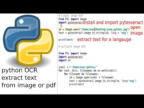 python extract text from image or pdf - YouTube