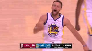 Stephen Curry Hits Game 1 Dagger vs. Houston Rockets