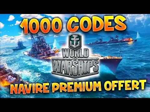 1000 CODES NAVIRE PREMIUM - World of Warships avec Fanta - EPUISÉ