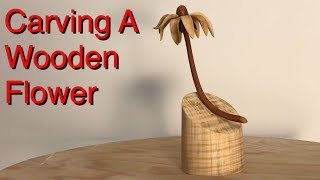 Carving A Wooden Flower With A Dremel 3000